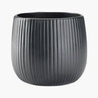 Cache-pot ODDMUND Ø14xH13cm noir