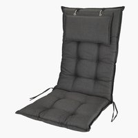 Cushion recliner chair BENNEBO black/gr.