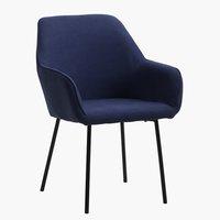 Spisebordsstol HADRUP mørkeblå/sort