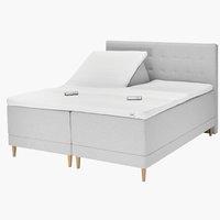 Sänggavel 180 GOLD H60 söm ljusgrå