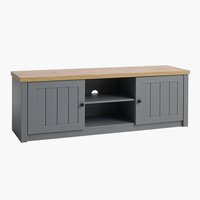 TV bench MARKSKEL grey/oak