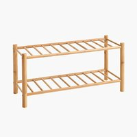 Shoe rack VANDSTED 2 shlv. bamboo