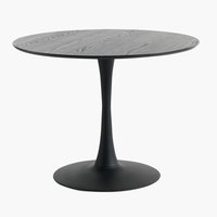 Dining table RINGSTED D100 black ash
