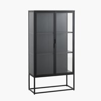Display cabinet VIRUM 2 door black