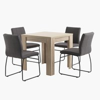HALLUND L80 oak + 4 UK HAMMEL grey