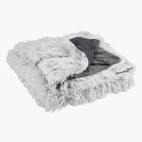 Throw LOTUS fake fur 135x195 white/grey