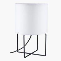 Tischlampe BRANDUR Ø16xH25cm weiß