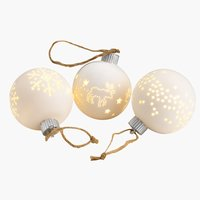 Christmas bauble SNORRE D8cm w/LED