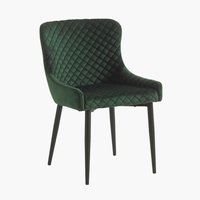 Blag.stolica PEBRINGE baršun zelena/crna