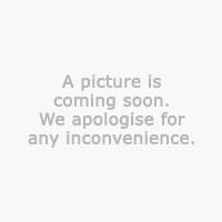 Vase KJARTAN Ø16xH21cm Glas blau/weiß