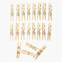 Clothes pegs WILLHEM wood 20 pack