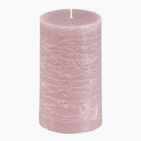Vela pilar EILEF Ø7xA12cm rosa