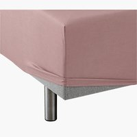 Fitted sheet SGL taupe KRONBORG