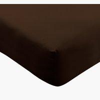 Drap-housse jersey 140/160x200x34cm brun
