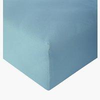 Sábana ajust Jersey 150x200x30cm azul em
