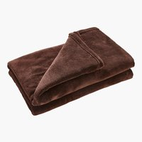 Plaid UNI DE LUXE fleece 140x200 marrone