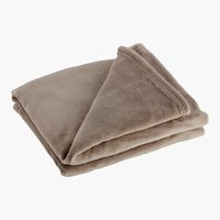 Plaid CLASSIC polaire 130x160 taupe