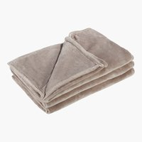 Decke XXL FLANELL 220x240 taupe
