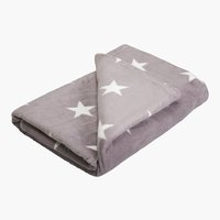 Plaid STARLIGHT pile 140x200 grigio