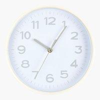Relógio de parede GOTFRED Ø25cm branco