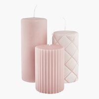 Формовая свеча ALFRED розовый 3 шт.
