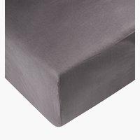 Sábana ajust percal 135x200x28cm gris