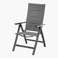 Chaise inclinable MIAMI gris