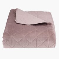 Bed throw ENGBLOMME 220x240 rose