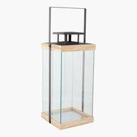 Laterne SKANDI B18xL18xH36cm Glas