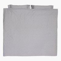 Juego funda nórdica TWEED 260x220 gris