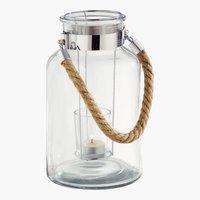 Lámpás ASNAN ÁTM14xMA26cm üveg