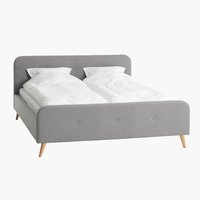 Estructura cama EGEDAL 135x190 gris cl