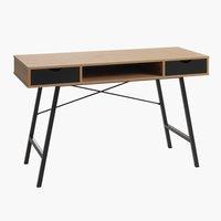 Schreibtisch BRYRUP 48x120 eiche/schwarz