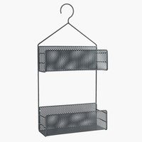 Shelf EKET w/2 shelves metal asphalt