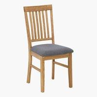 Кухненски стол HAGE сиво/дъб