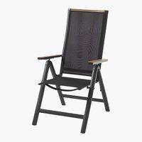 Silla reclinable BREDSTEN negro