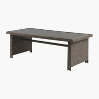 Table GAMMELBY 100x225 gris