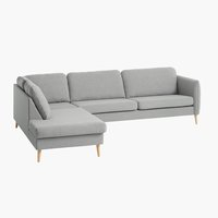 Sofa AARHUS Ecke offen links grau
