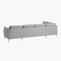 Γωνιακός καναπ. AARHUS αρ,ζεστό γκρι