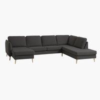 Sofa AARHUS Ecke rechts dunkelgrau