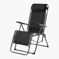 Chaise relax HALDEN noir