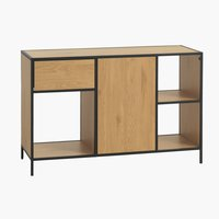 Sideboard TRAPPEDAL 1 door oak/black