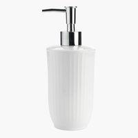 Dispensador jabón HAGA blanco