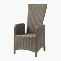 Chaise inclinable GAMMELBY gris
