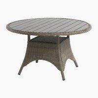 Stôl GAMMELBY Ø130 sivá
