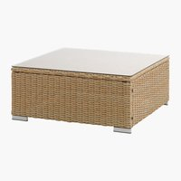 Loungetafel DALL B74xL74 naturel