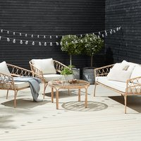 Loungeset JENNUM 5 pers. naturel
