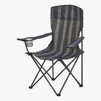 Silla de camping JESSHEIM negro/gris