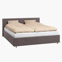 Рамка за легло EGERSUND 160x200см т.сива