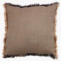 Cuscino PELARGONIA 45x45 naturale/grigio